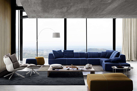 bend sofa and husk armchair by b&b italia studio como modern furniture denver
