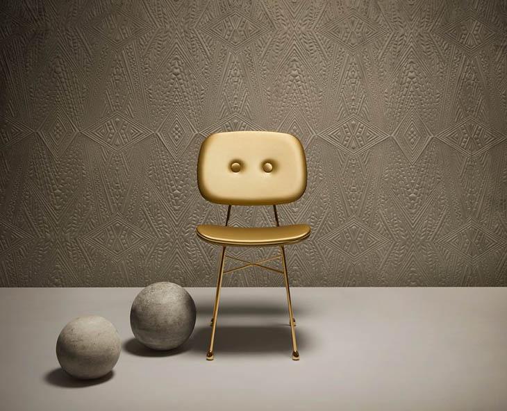 moooi gold chair in situ