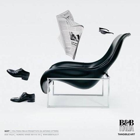 mart armchair by b&b italia advertisement