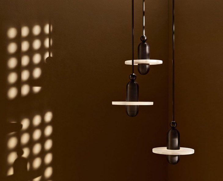 median mono pendant light by apparatus in situ