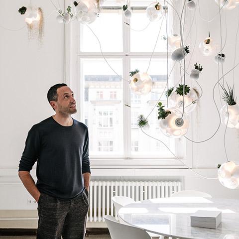 designer omer arbel at bocci headquarters