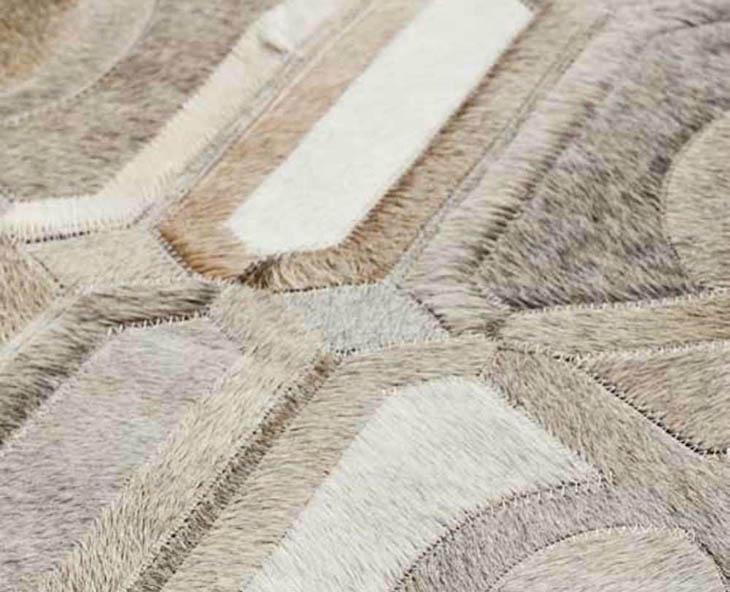detail of a yerra cowhide rug