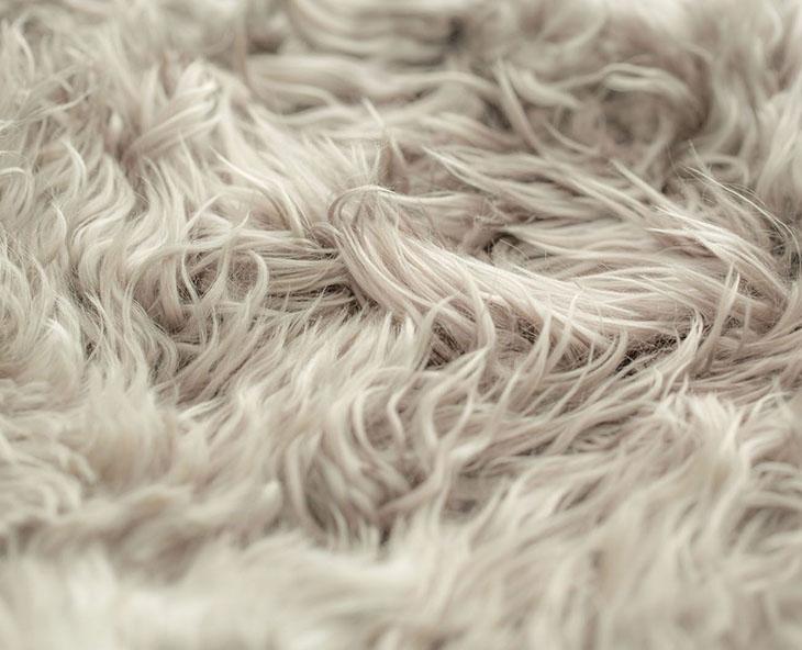 detail of a yerra fur rug