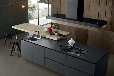 modern kitchen featuring poliform artex cabinetry