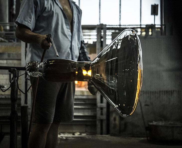 glassworks at brokis lighting factory