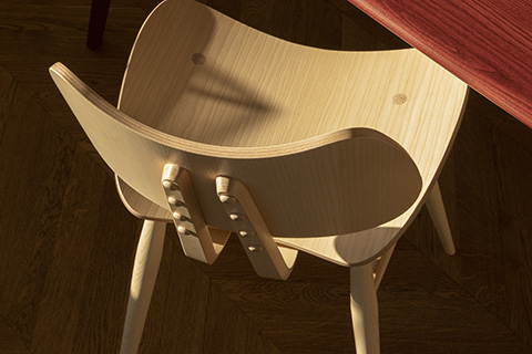 detail of l.ercolani chair