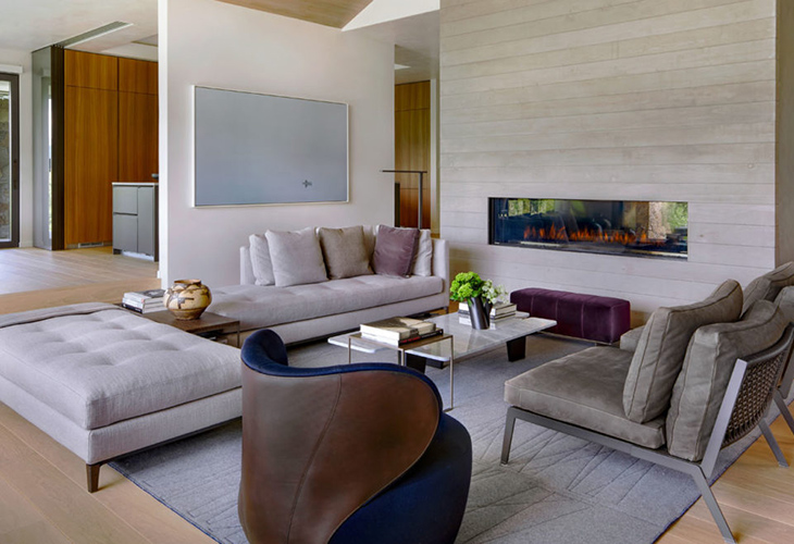 living room at the musser residence with interior design by akasha feeley and furniture from studio como modern furniture