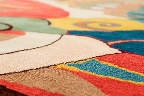 detail of joseph carini phoenix rug
