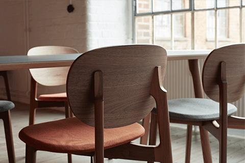detail of zeitraum zenso side chair