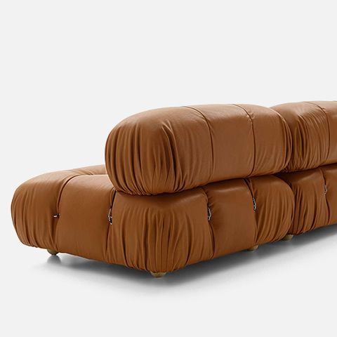 back side of a b&b italia camaleonda sofa