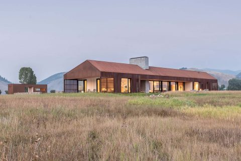 modern dogtrot home in jackson wyoming designed by clb architects