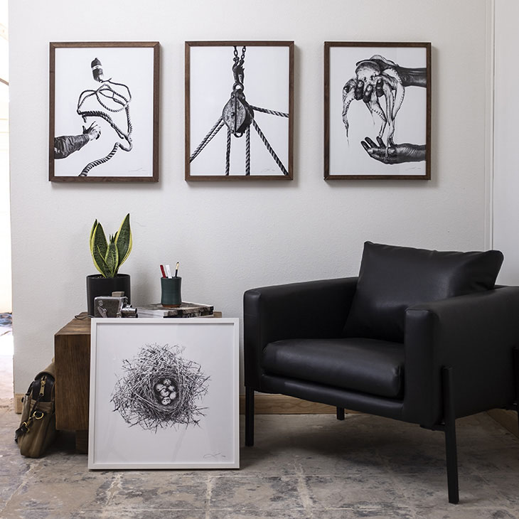 four photographs by jack ludlam in situ