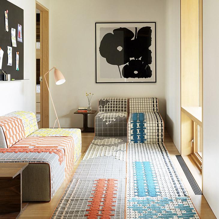 modern house in jackson wyoming featuring gan bandas rugs and bandas chairs