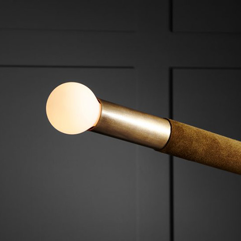 close up of bulb on an apparatus arrow pendant