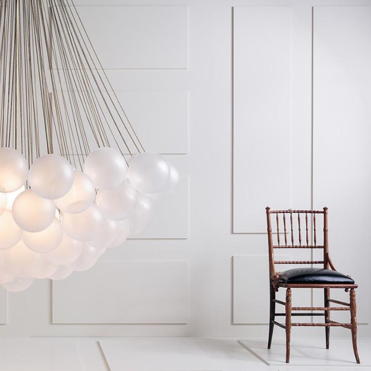 modern room featuring modern bar featuring apparatus cloud XL 73 pendant