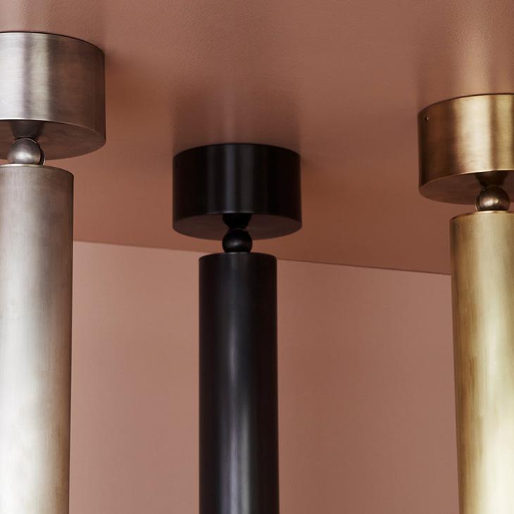three apparatus cylinder pendants