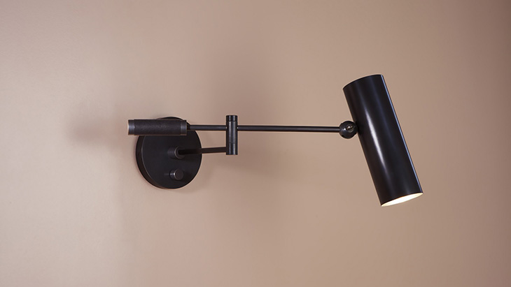 apparatus cylinder swing arm sconce