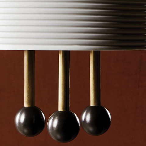 close up of an apparatus lantern pendant light shade