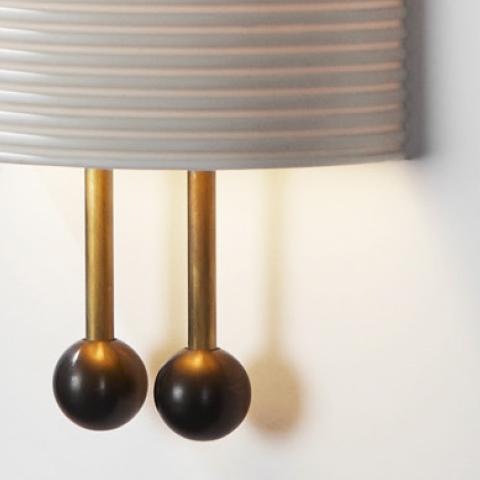 close up of an apparatus lantern sconce
