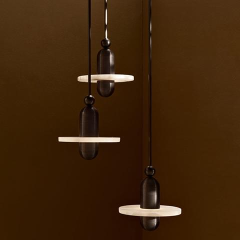three median mono pendant lights