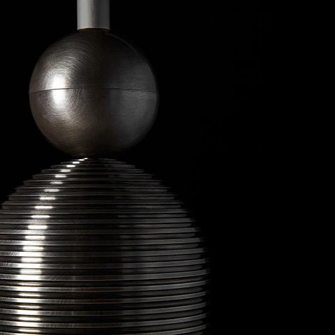 close up of apparatus median pendant light hardware