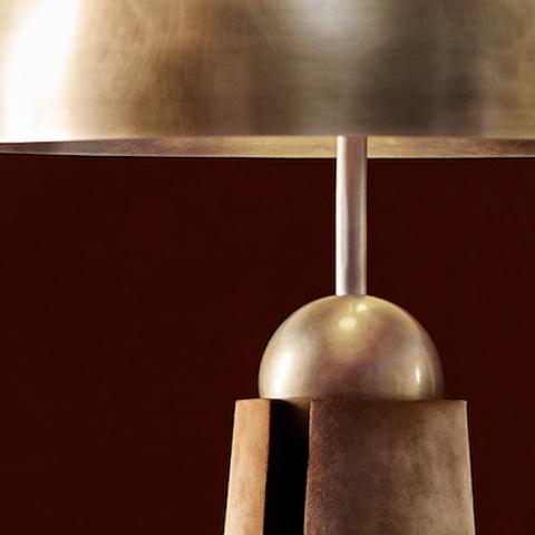 close up of apparatus metronome table lamp