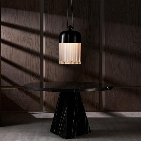 apparatus tassel 19 pendant light in situ