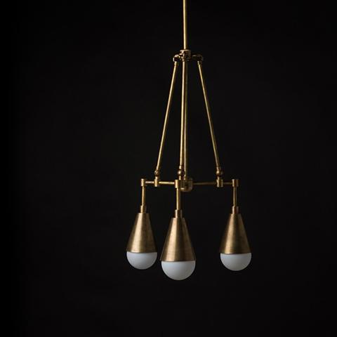 apparatus triad 3 pendant light in situ