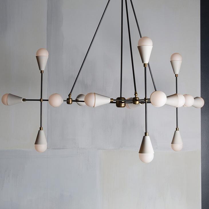 apparatus triad pendant light in situ