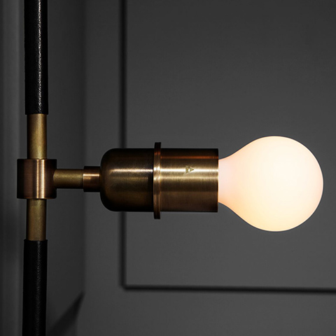 close up of an apparatus vanity sconce in situ