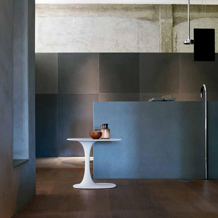 modern kitchen featuring b&b italia awa table