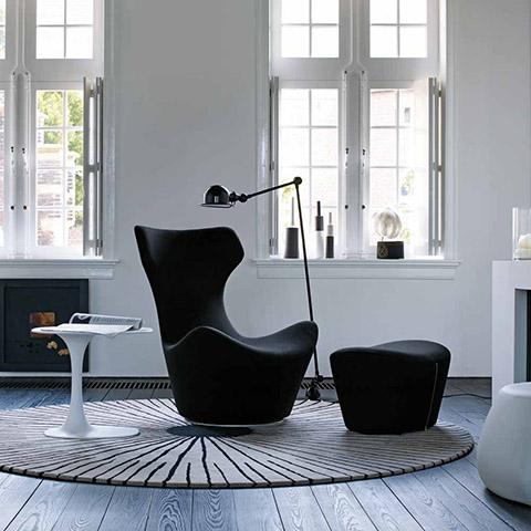 modern living room featuring b&b italia awa table
