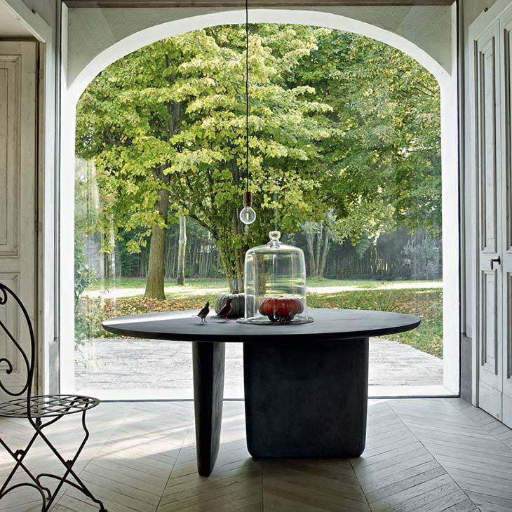 b&b italia tobi-ishi table in a historic european home