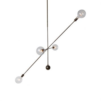 apparatus highwire pendant light on a white background