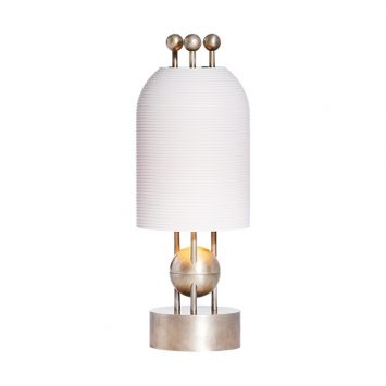 apparatus lantern table lamp on a white background
