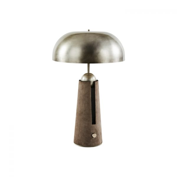 apparatus metronome table lamp on a white background