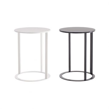 two b&b italia frank side tables on a white background