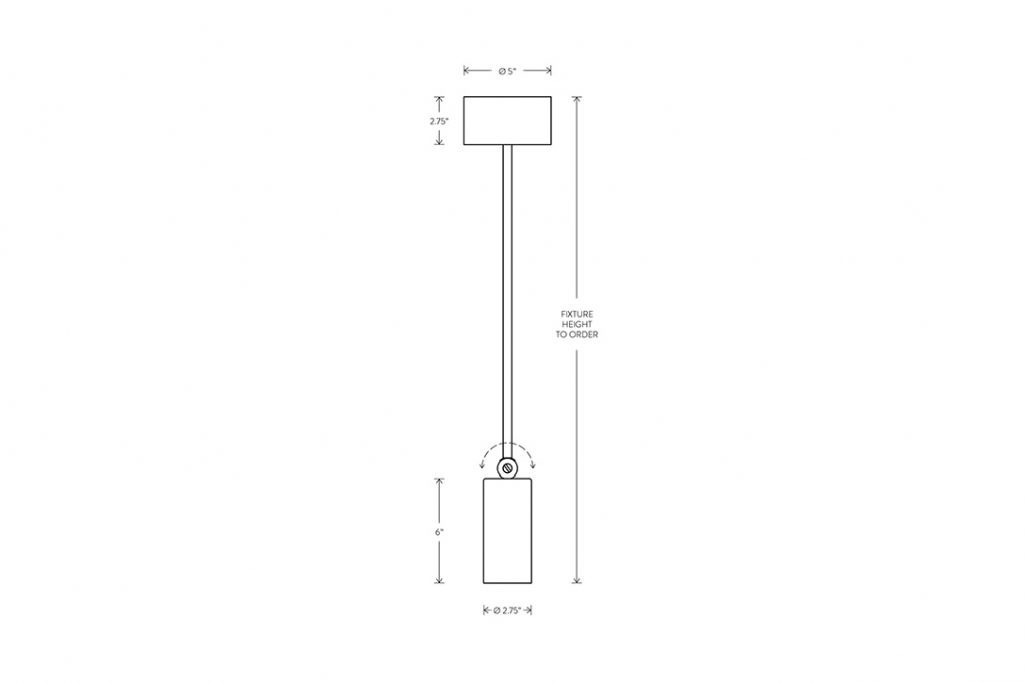 ine drawing and dimensions for apparatus cylinder extended downlight