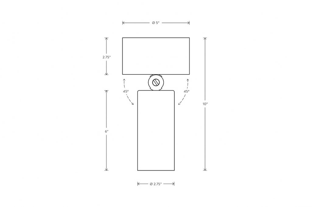 line drawing and dimensions for apparatus cylinder downlight