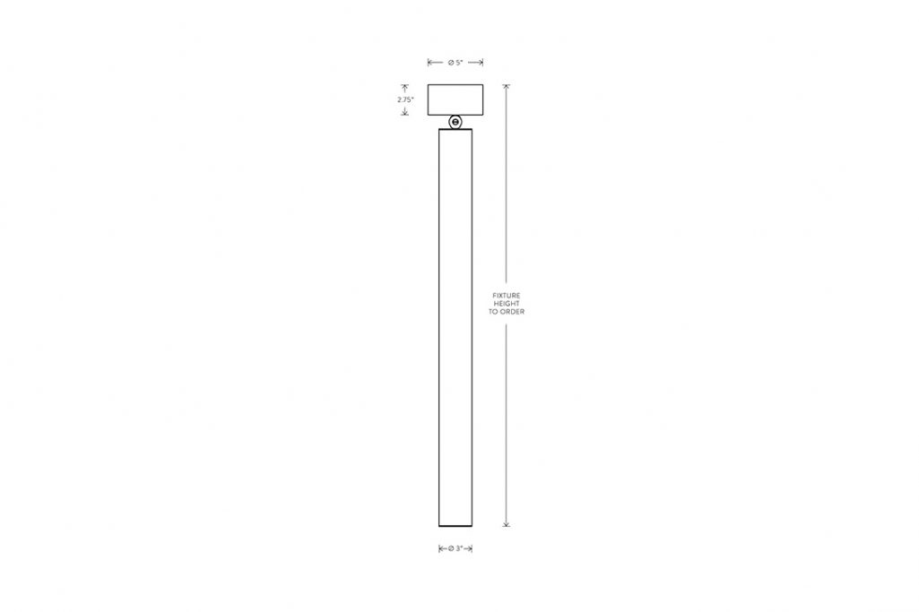 line drawing and dimensions for apparatus cylinder pendant