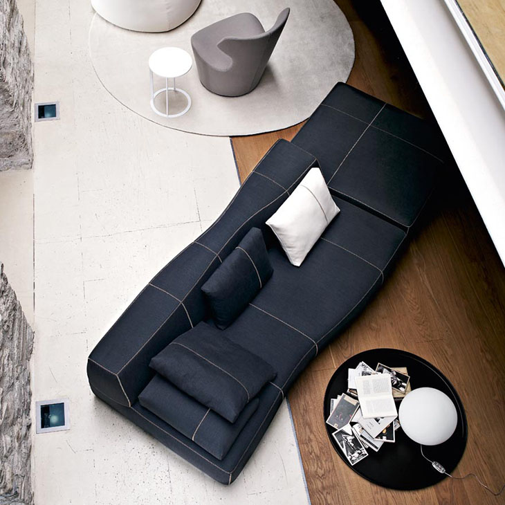 bird's eye view of b&b italia bend sofa