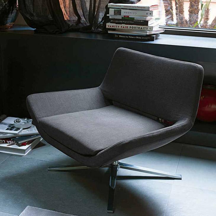 modern living room featuring b&b italia metropolitan armchair