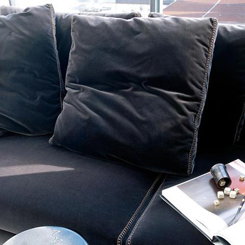 detail of b&b italia ray sofa in situ
