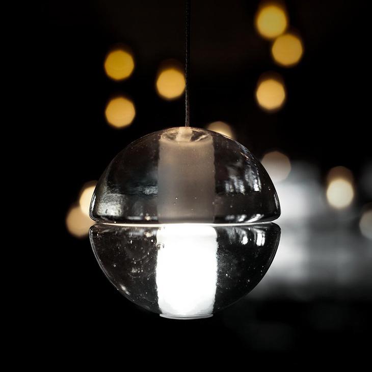 close up of a bocci 14.1 pendant light
