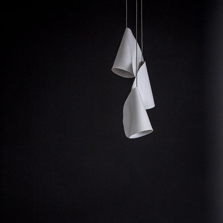 bocci 21 series pendant light on a black background