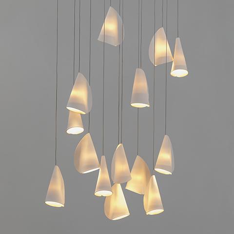 bocci 21 series pendant light on a grey background