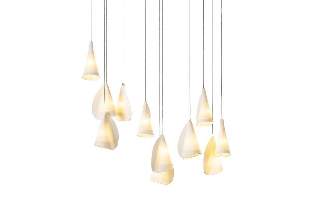 bocci 21.11 pendant light on white background