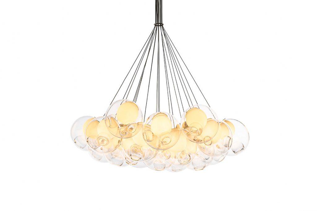 bocci 28.19 cluster pendant light on a white background