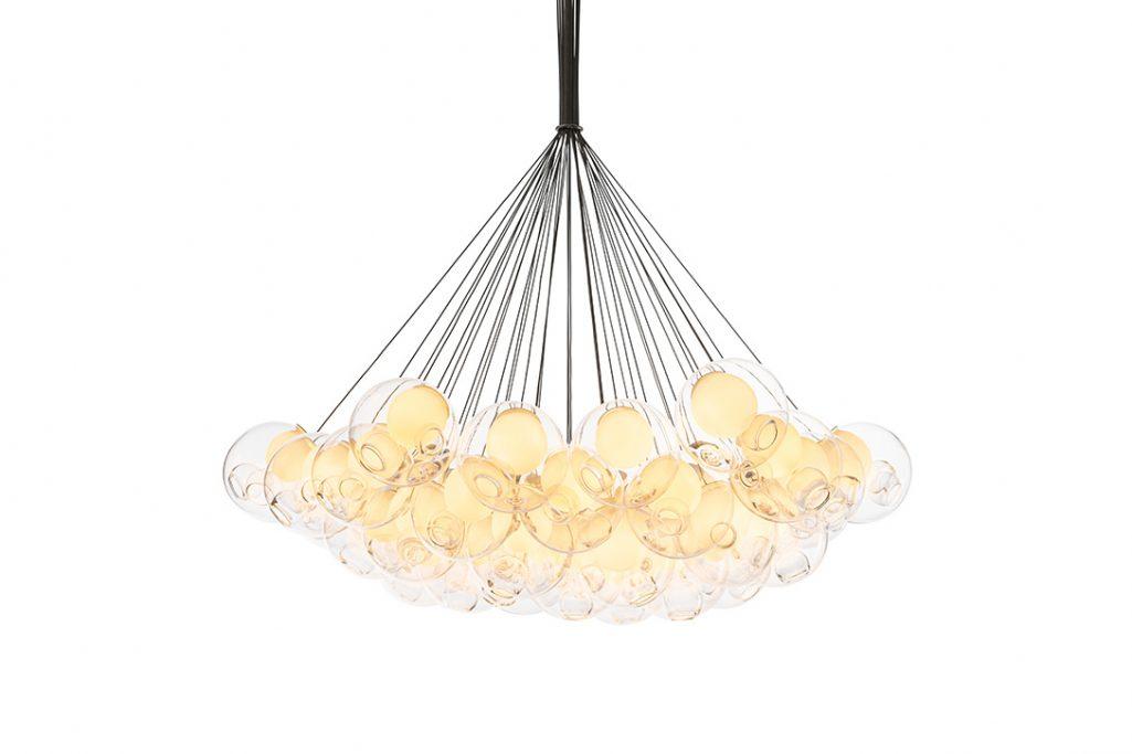 bocci 28.37 cluster pendant light on a white background