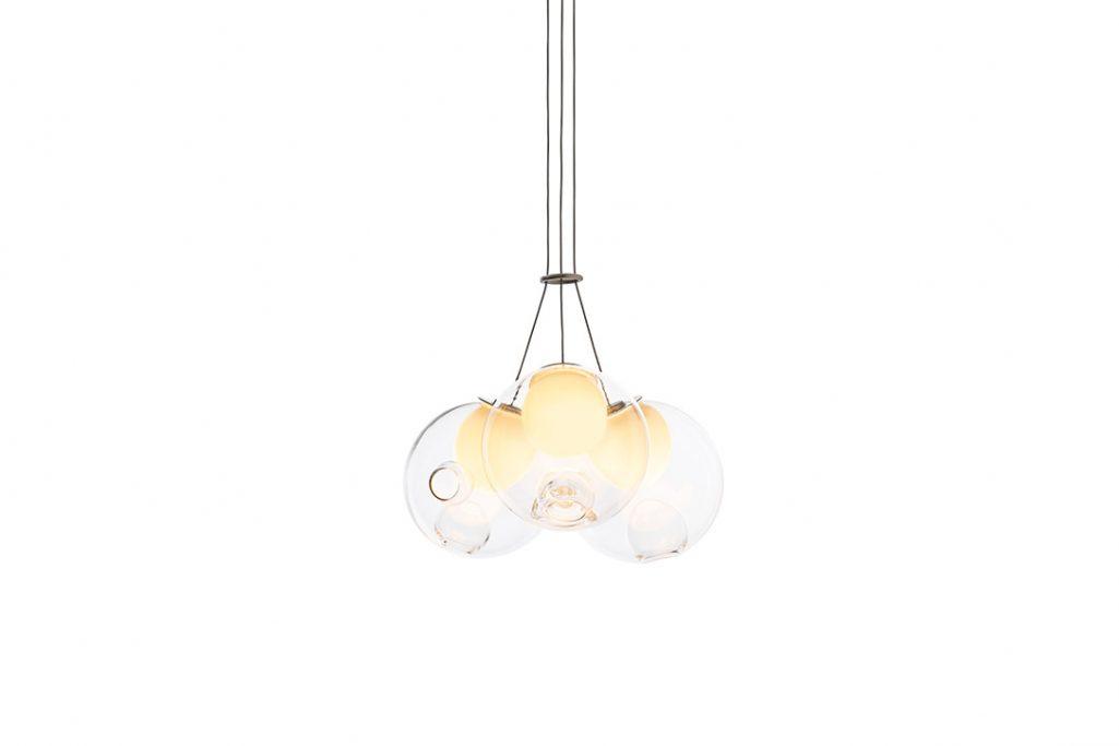 bocci 28.3 cluster pendant light on a white background